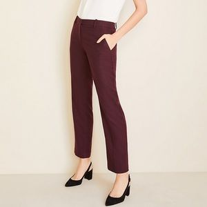 Ann Taylor Straight Leg Burgundy Pants